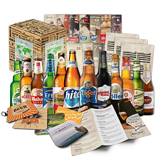 Cervezas del mundo (12 botellas) especialidades internacionales de cerveza para regalar - Las mejores cervezas del mundo con caja de regalo (cerveza + ...