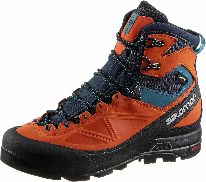 ffaad3e12bc Salomon Men's's X ALP MTN GTX Boots, (Navy Blazer/Flame/Mallard Blue ...