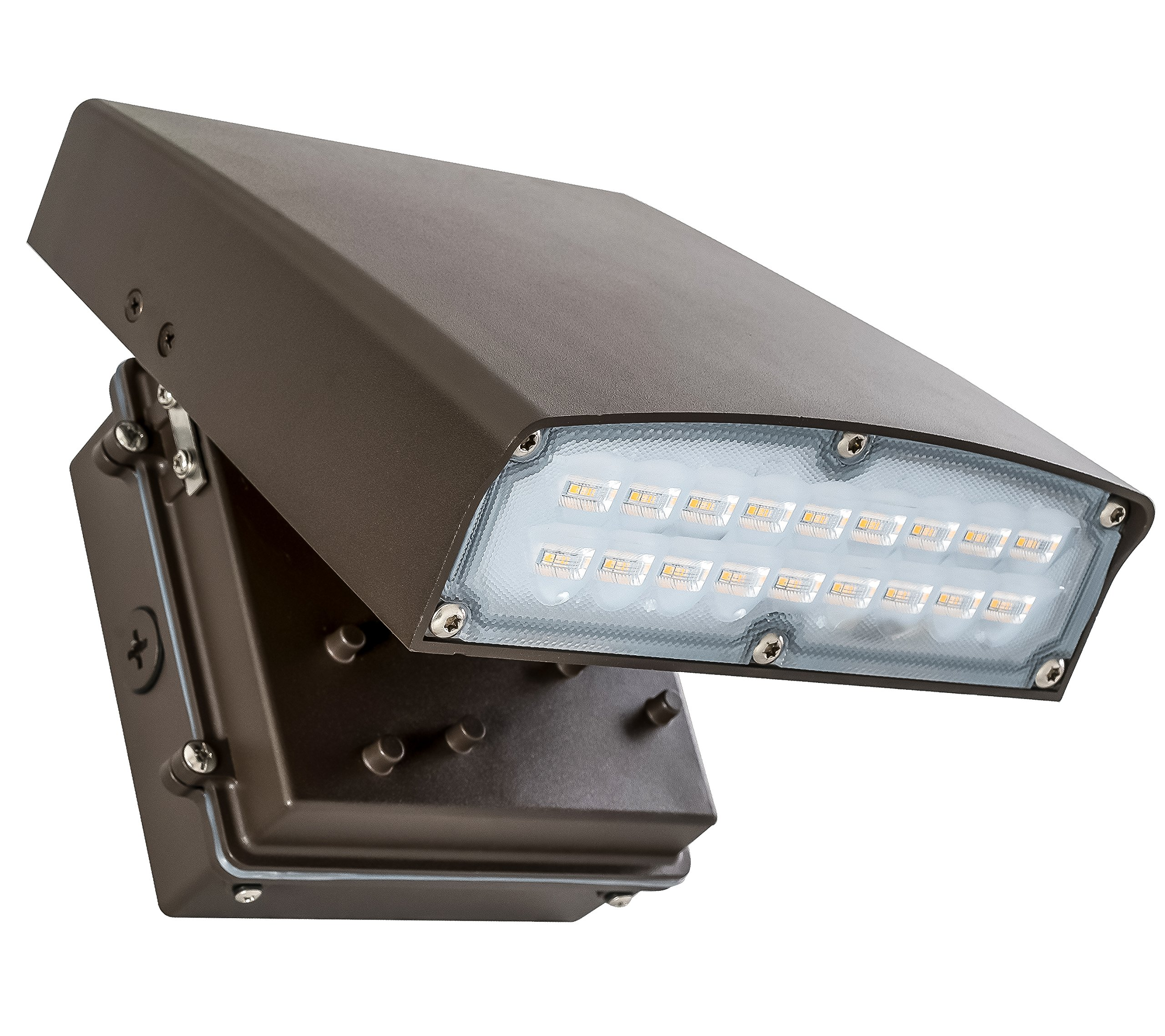 Westgate Lighting LED Adjustable Cutoff Wall Pack Outdoor Series – High Lumen – Waterproof IP54 – UL Listed DLC Approved – 120-277V – 7 Year Warranty (20W, 5000K Cool White)
