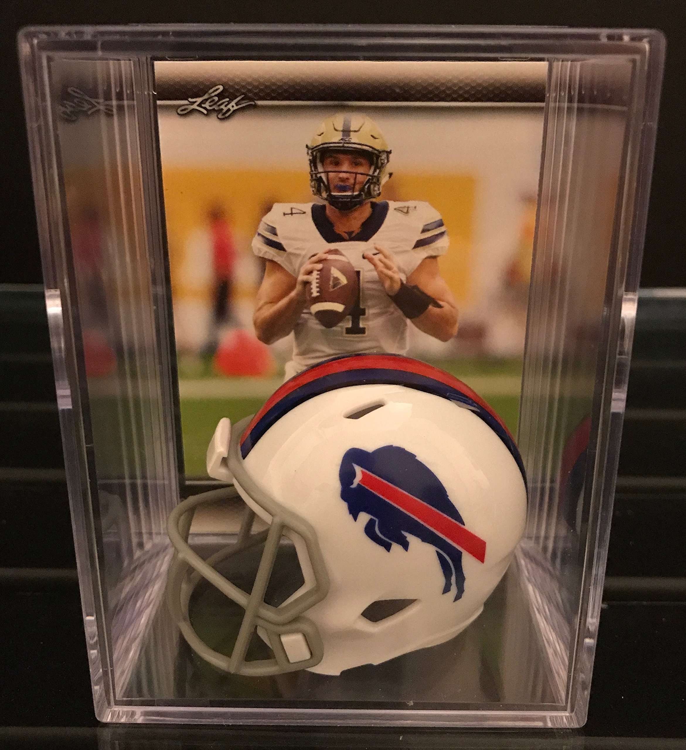 Buffalo Bills NFL Helmet Shadowbox w/ Nathan Peterman card