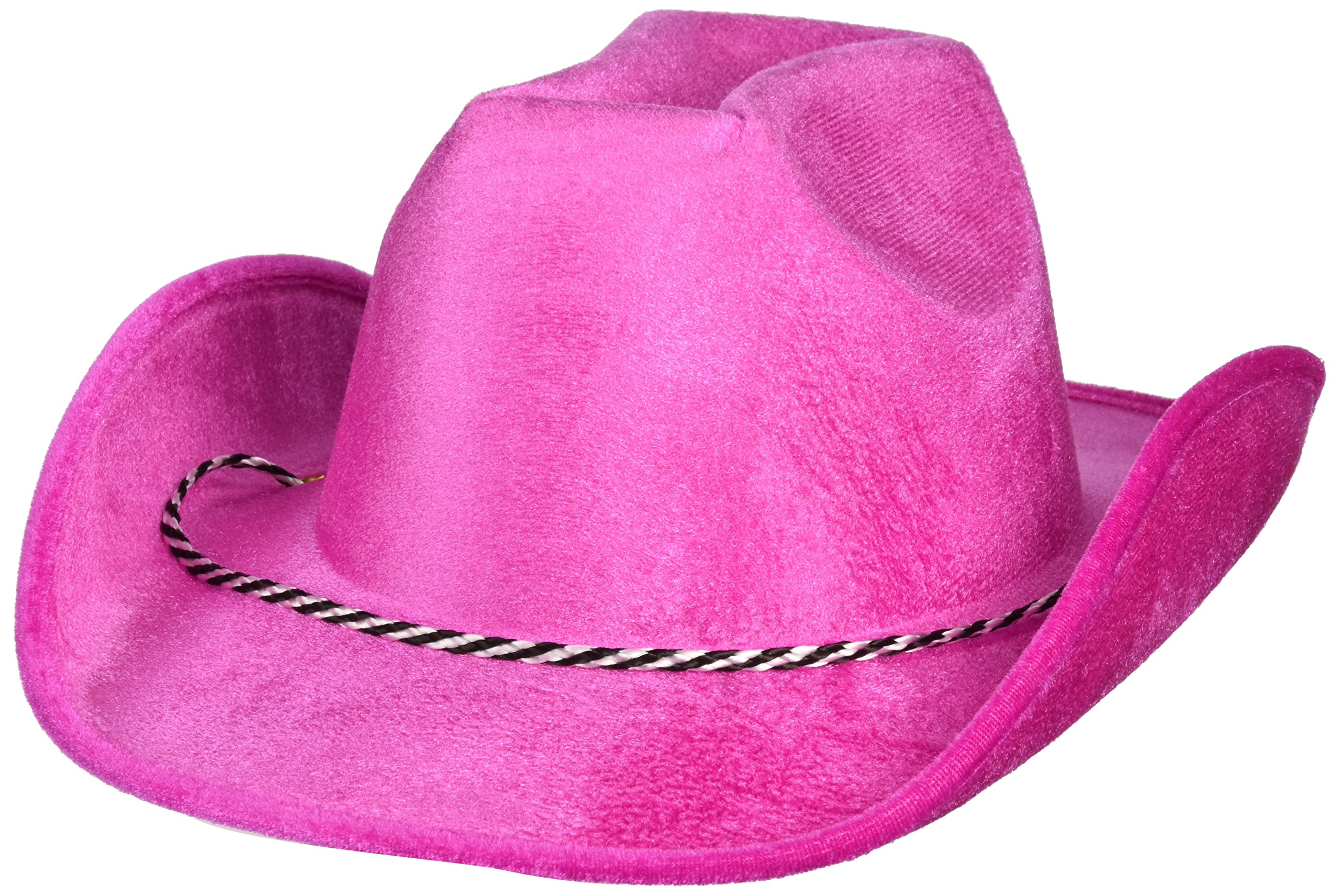 Amscan Pink Velour Cowboy Hats, Party Accessory, 6 Ct.
