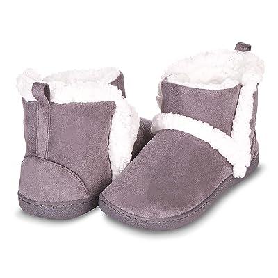 Floopi Womens Indoor Outdoor Bootie Slipper - Sherpa Fur Lined Clog W/Memory Foam   Slippers