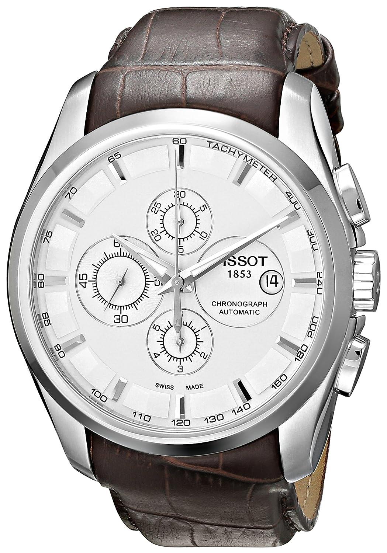 [ティソ] TISSOT 腕時計 クチュリエ オートマティック クロノグラフ シルバー文字盤 レザー T0356271603100 メンズ 【正規輸入品】 B002XISCTI