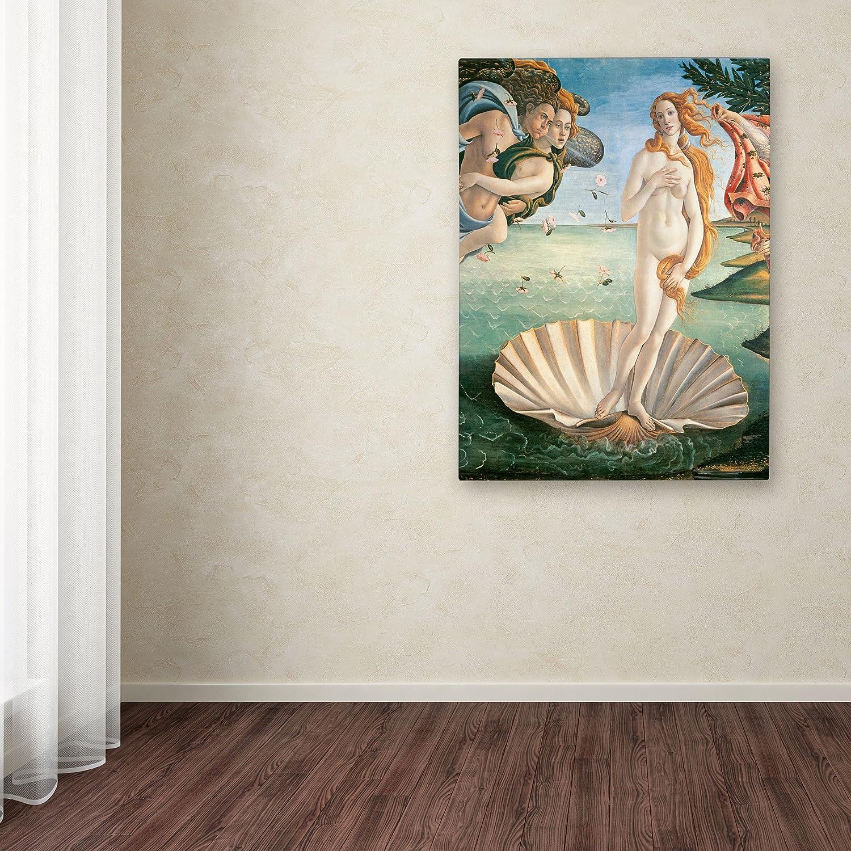 Birth of Venus 1484 Artwork by Sandro Botticelli, 18 by 24-Inch Canvas Wall Art