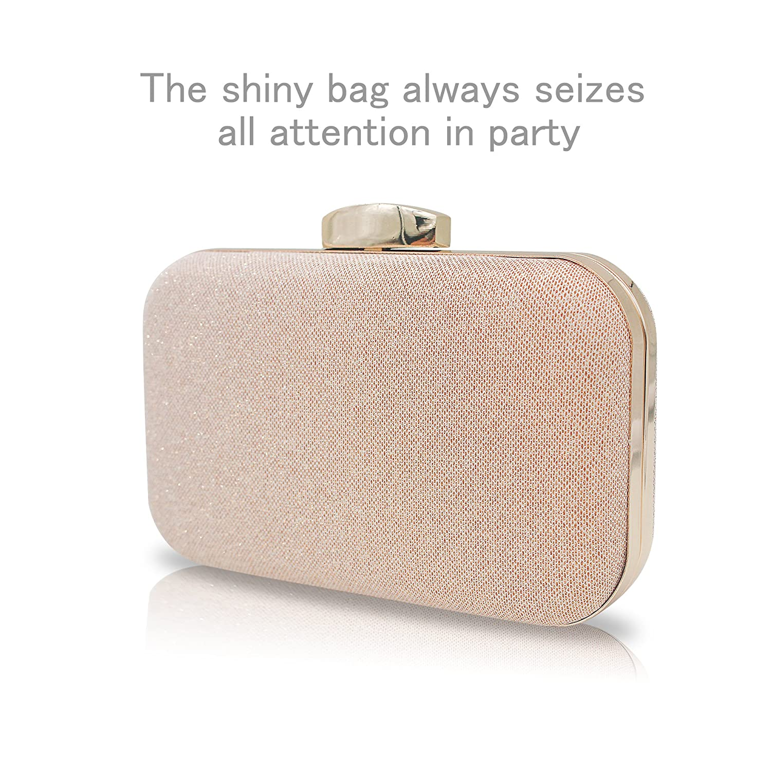 fafa6709bd06 Artemisiris elegant rose gold clutch purse crossbody bags jpg 1500x1500 Gold  clutch bags