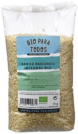 Bio para todos Arroz Redondo Integral - 4 Paquetes de 1000 gr - Total: 4000
