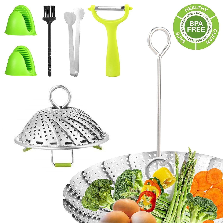 Steamer Basket Steamer Inserts Food Steamer Stainless Steel Vegetable Veggie Steamer EXCOUP