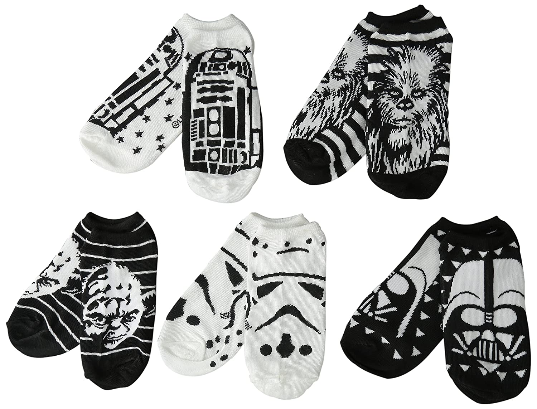 Star Wars Womens 5 Pack No Show Socks