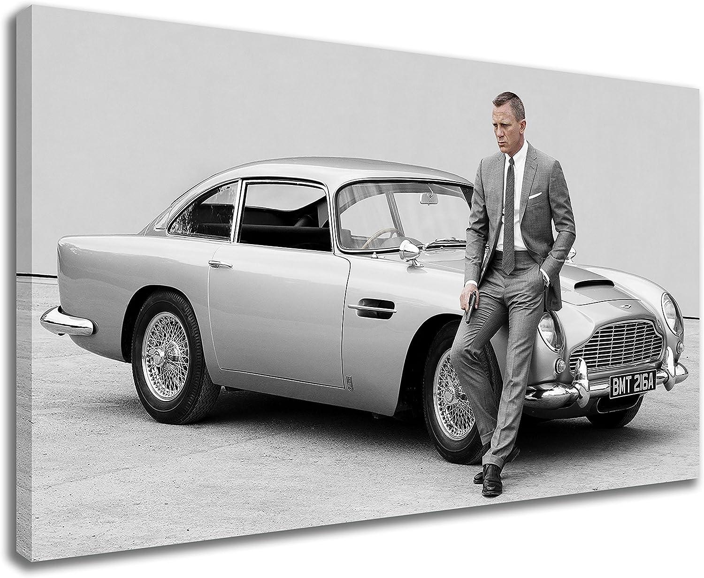 Amazon De Kunstdruck Auf Leinwand Motiv Aston Martin Db5 Skyfall Daniel Craig James Bond 76 2 X