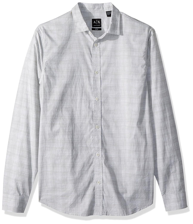 A|X Armani Exchange Men's Long Sleeve Cotton Woven Shirt 3ZZC55ZNDLZ0134