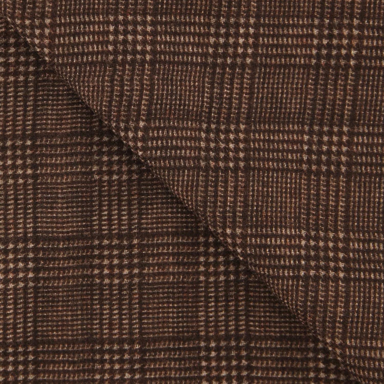 New Luigi Borrelli Brown Wool Scarf
