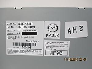 Mazda Genuine Accessories (GS3L-79-EGX) 6-Disc in-Dash CD/MP3 Changer