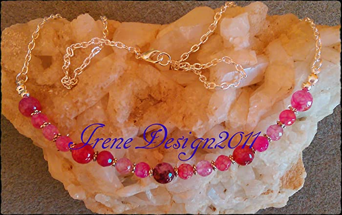 Pink Facetted Watermelon Tourmaline Necklace by IreneDesign2011