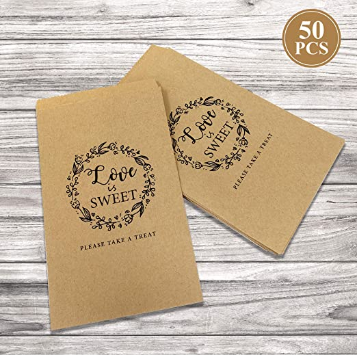 150 Brown Kraft Paper Treat Loot Lolly Bag Wedding Birthday Party Favours Buffet