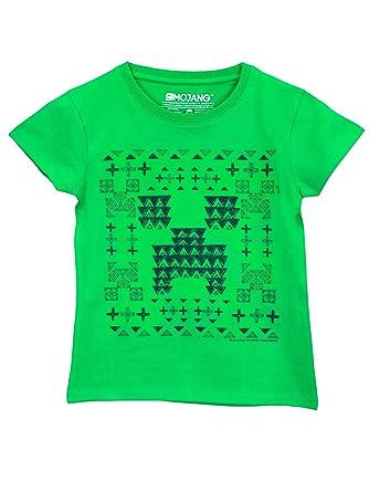 Amazon Com Minecraft Girls Minecraft Creeper T Shirt Size 6 Clothing
