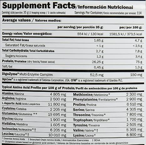 Amix Whey Pure Fusion Proteínas - 4000 gr_8594159538870: Amazon.es: Salud y cuidado personal