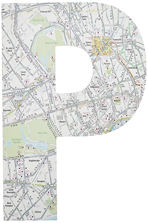 Knightsbridge London Map.Stupell Home Decor London Map 18 Inch Hanging Wooden Initial 12 X