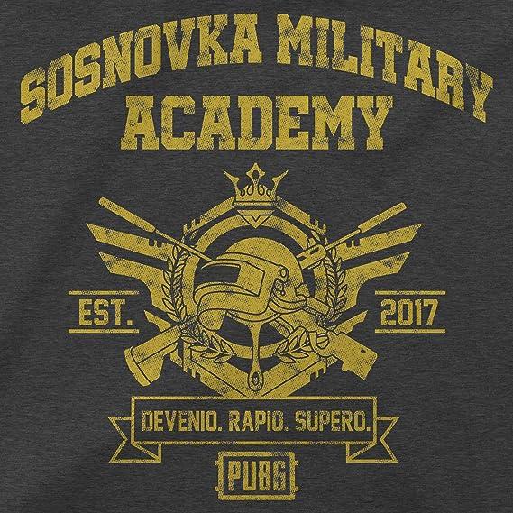 Amazon.com: JINX PUBG Military Academy Sudadera de cuello ...