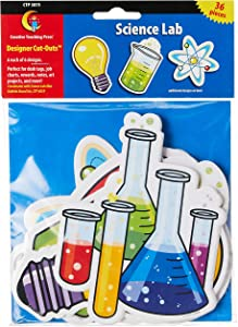 Creative Teaching Press 6-Inch Designer Cut-Outs, Science Lab (3875),6 of each design,36 pieces