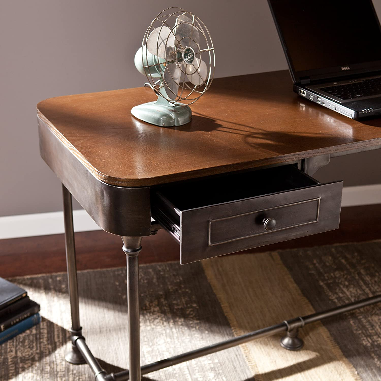 Amazon Southern Enterprises Edison Industrial 2 Drawer Desk