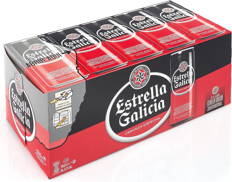 ESTRELLA GALICIA cerveza rubia nacional especial pack 10 latas 33 cl: Amazon.es: Alimentación y bebidas