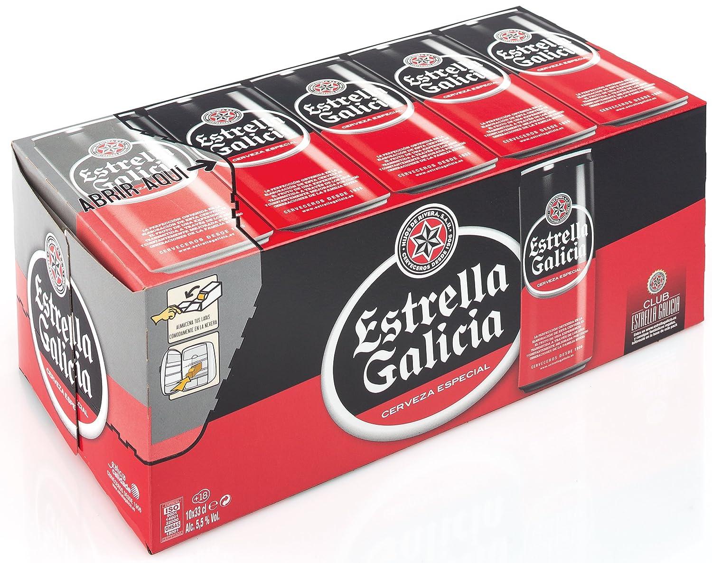 Cerveza estrella galicia pack de 10 latas de 33cl.: Amazon.es ...