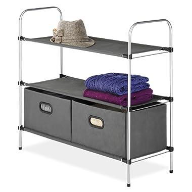 Whitmor Closet Shelves and Drawers - Multipurpose Portable Closet Organization Solution