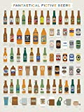 Fictional Beer Poster - Fantastical Fictive Fictional Beers (18 X 24) By Pop Chart Lab