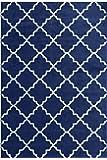 Furnish my Place Contemporary Trellis Modern Geometric Area Rug Red 635, Blue