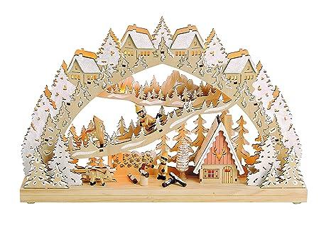 Weihnachtsbeleuchtung Lichterbogen.Led Lichterbogen Kinder Im Winterwald Weihnachtsbeleuchtung
