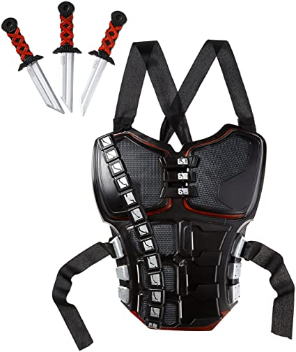 Stealth Ninja Battle Armor kit Fancy Dress Accessory: Amazon ...