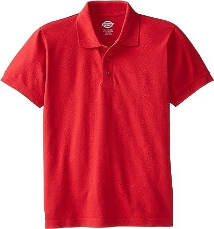 Dickies - Tamaño de KS4552 Camisa del niño de manga corta Polo Piqué -, X-Large, English Red