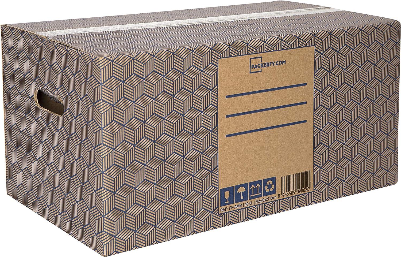 Pack 10 Cajas Carton Mudanza y Almacenaje XL Ultra Resistentes con Asas, 100% ECO Box | Packer PRO