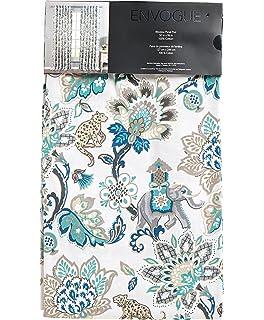Envogue Exotic Jacobean Animals Flowers Window Curtains 100 Cotton Set Of 2 Panels Pair