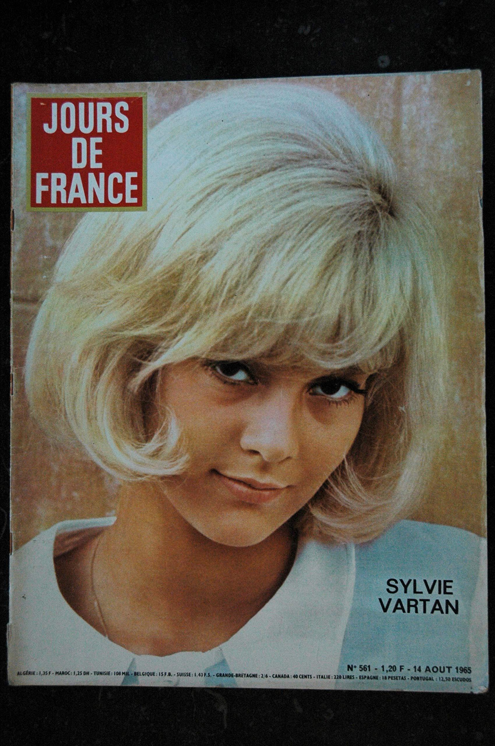 Jours De France 561 Aout 1965 Sylvie Vartan Cover 5 Pages Farah Elsa Martinelli Beatles Chez Princesse Magaret Les Tresors D Emmanuelle 3701315960818 Amazon Com Books