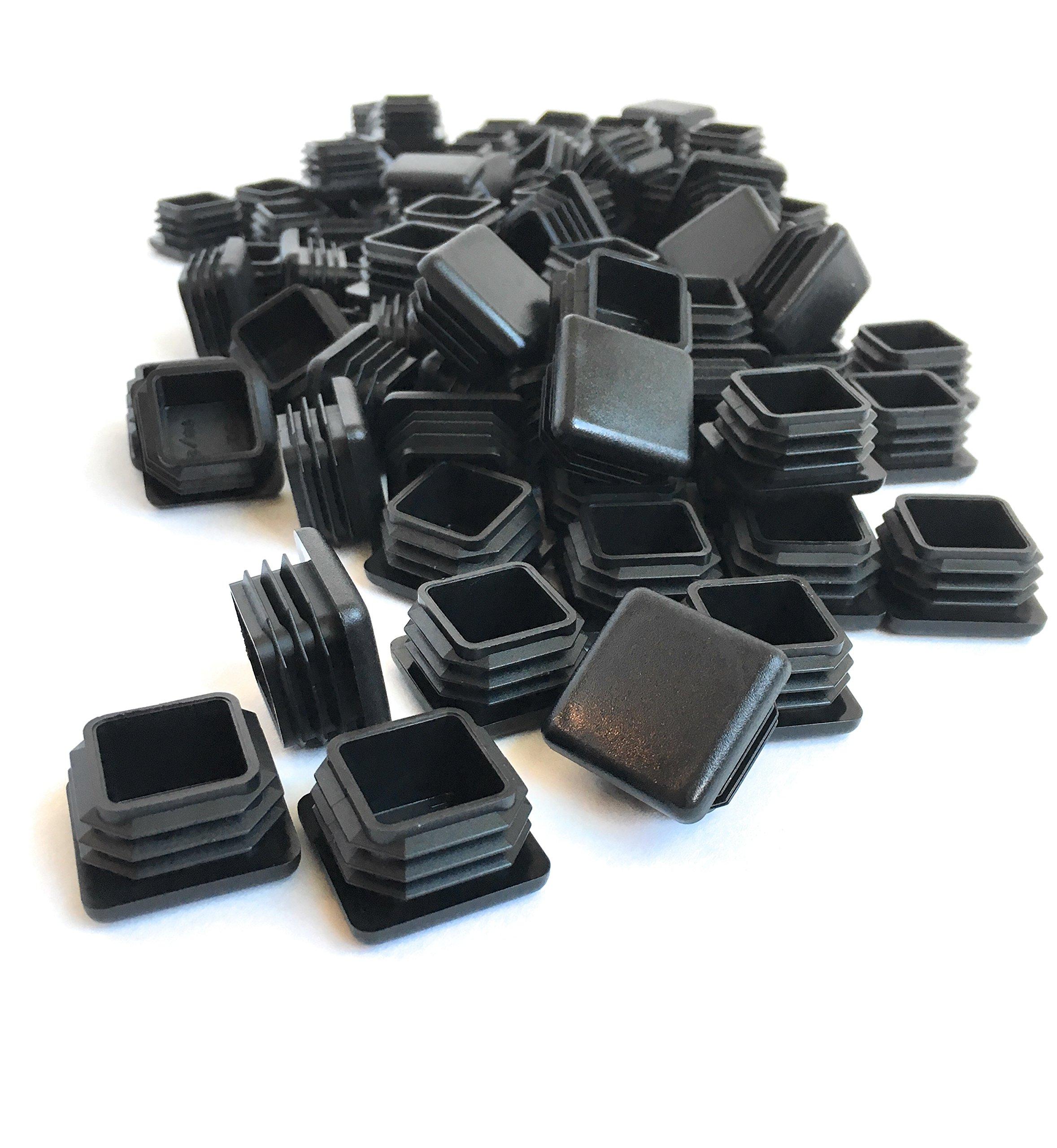 (100 Pack) (14-20 GA) Square Plastic Polyethylene Plug 1''x 1''
