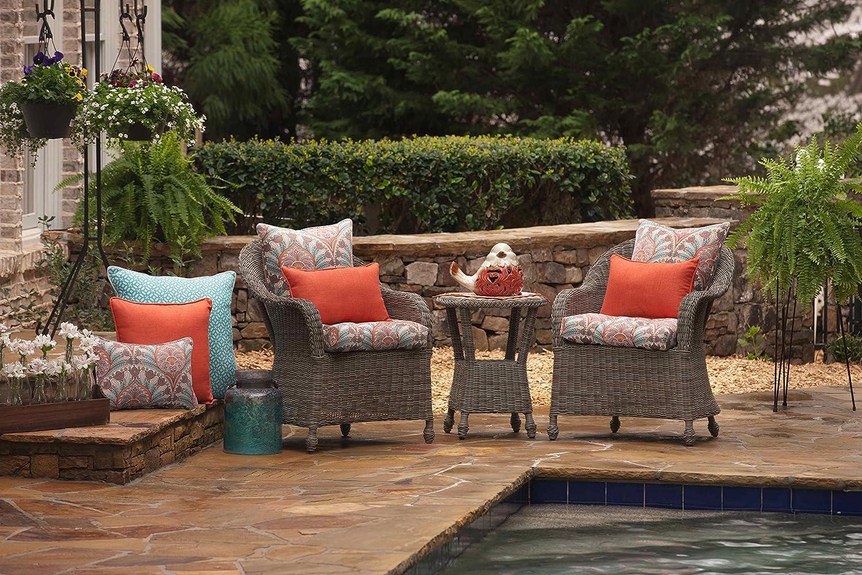 Set of 2 Pillow Perfect Outdoor//Indoor Rave Coral Rectangular Throw Pillow