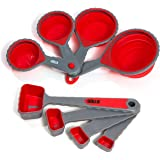 HULLR Collapsible Measuring Cups and Measuring Spoons - 8 Piece Set
