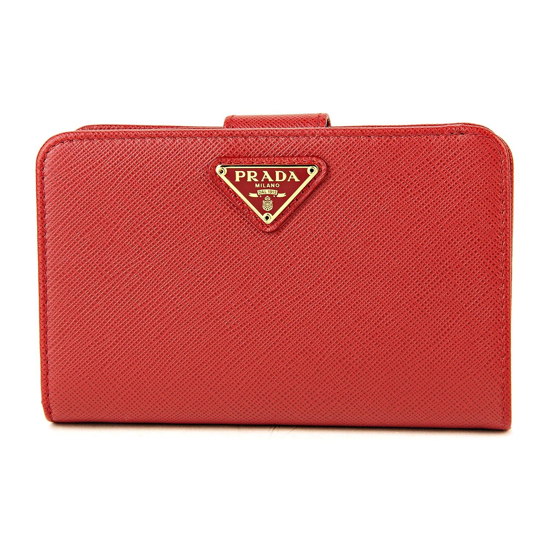プラダ(PRADA) 2つ折り財布 1ML225 QHH F068Z サフィアーノ トライアングル レッド 赤 [並行輸入品] B075K6J5NV