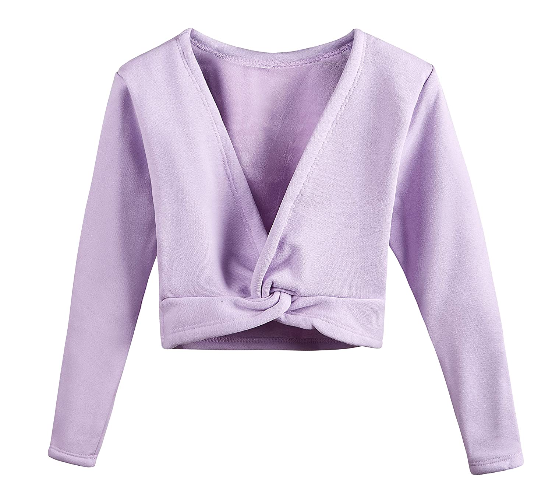 DANSHOW Kids/'Long Sleeve Wrap Tops Leotards for Girls Dance Ballet Cardigan Dress