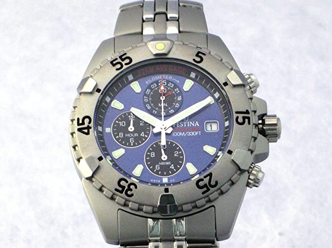 Festina Caballero cronografo Acero Esfera Azul (Acero Mate y Brillo): Amazon.es: Relojes