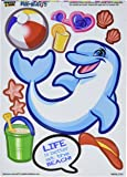 Graphics and More 'Dolphin at The Beach Dress-Up' Ocean Summer MAG-NEATO'S Novelty Gift Locker Refrigerator Vinyl Magnet Set