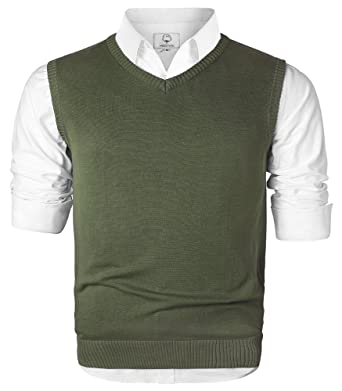 Men's cotton vest sweaters