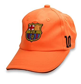 498be49345a Amazon.com  Official Licensed GENIUNE FC Barcelona Messi 10 Orange YOUTH Hat  Cap - Licensed FC Barcelona Merchandise  Clothing