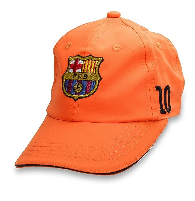 b5cf9658e2f28 ... Oficial lizens limitada Original FC Barcelona Messi 10 naranja Teen  pantalla Gorro - Oficial de FC Barcelona Fan Artículo  Amazon.es  Ropa y  accesorios