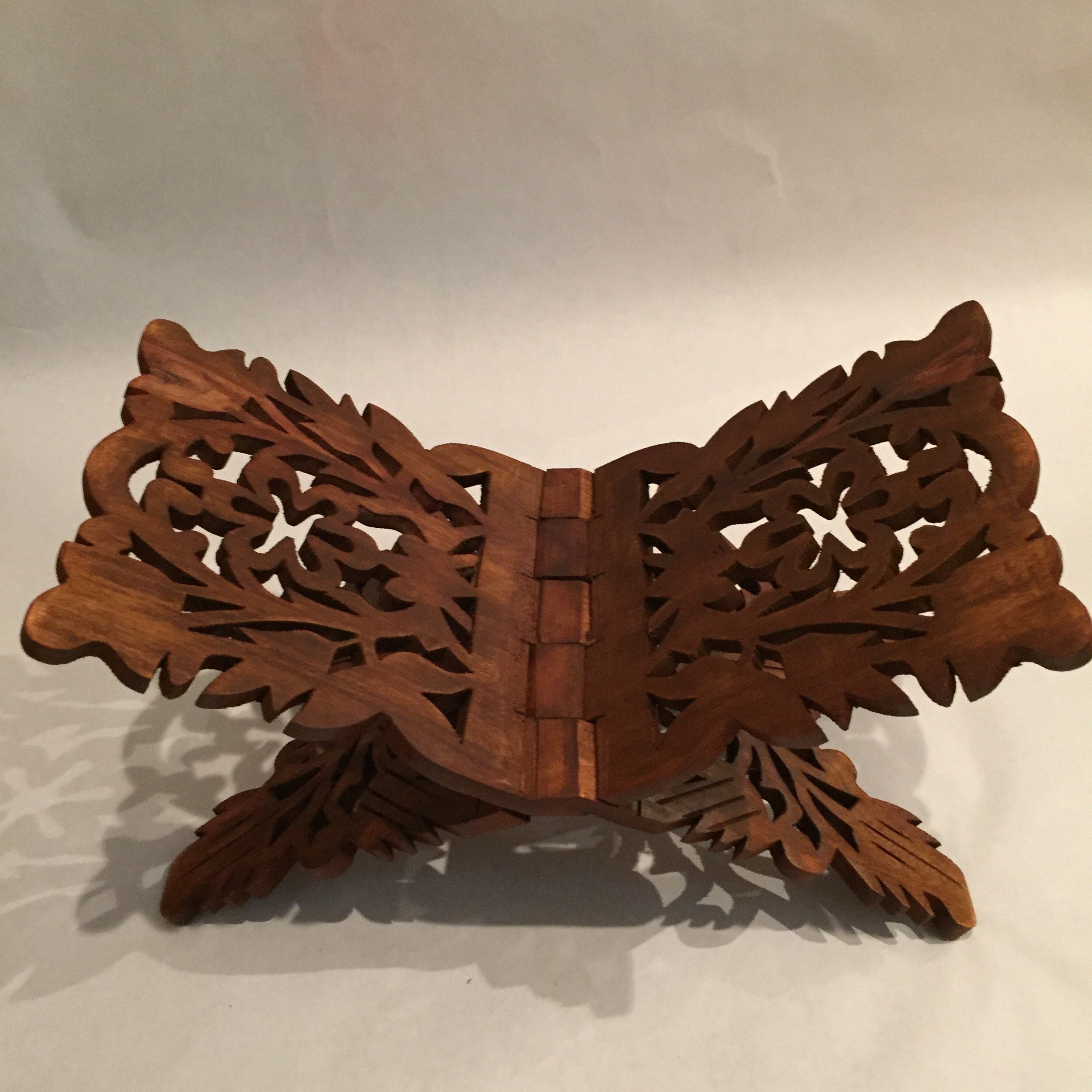 Prayer Book Holder Stand Ramadan Gift Rihal Rehal Rail Wooden Carved Gift 15.5''x7'' by Hand Made