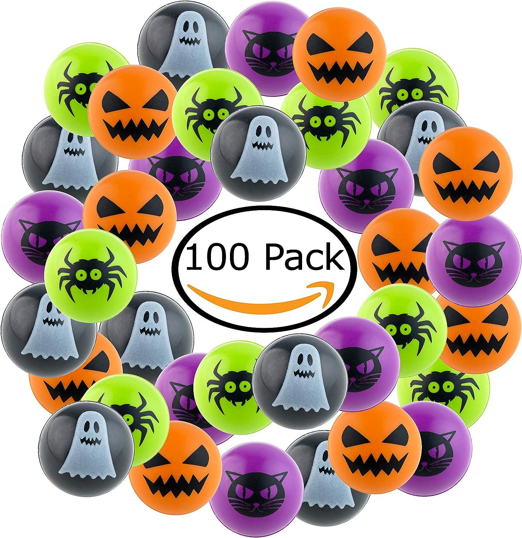 100 Bolas de Rebote para Favor de Halloween - Pelota de Goma ...