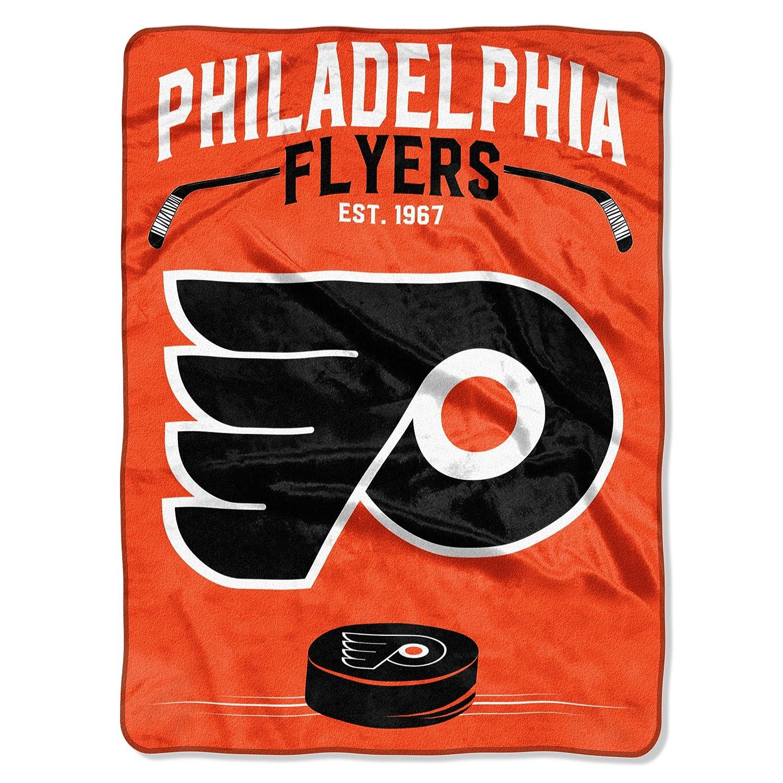 (Philadelphia Flyers) - The Northwest Company NHL Inspired Plush Raschel Throw, 150cm x 200cm B01ITKTHH4