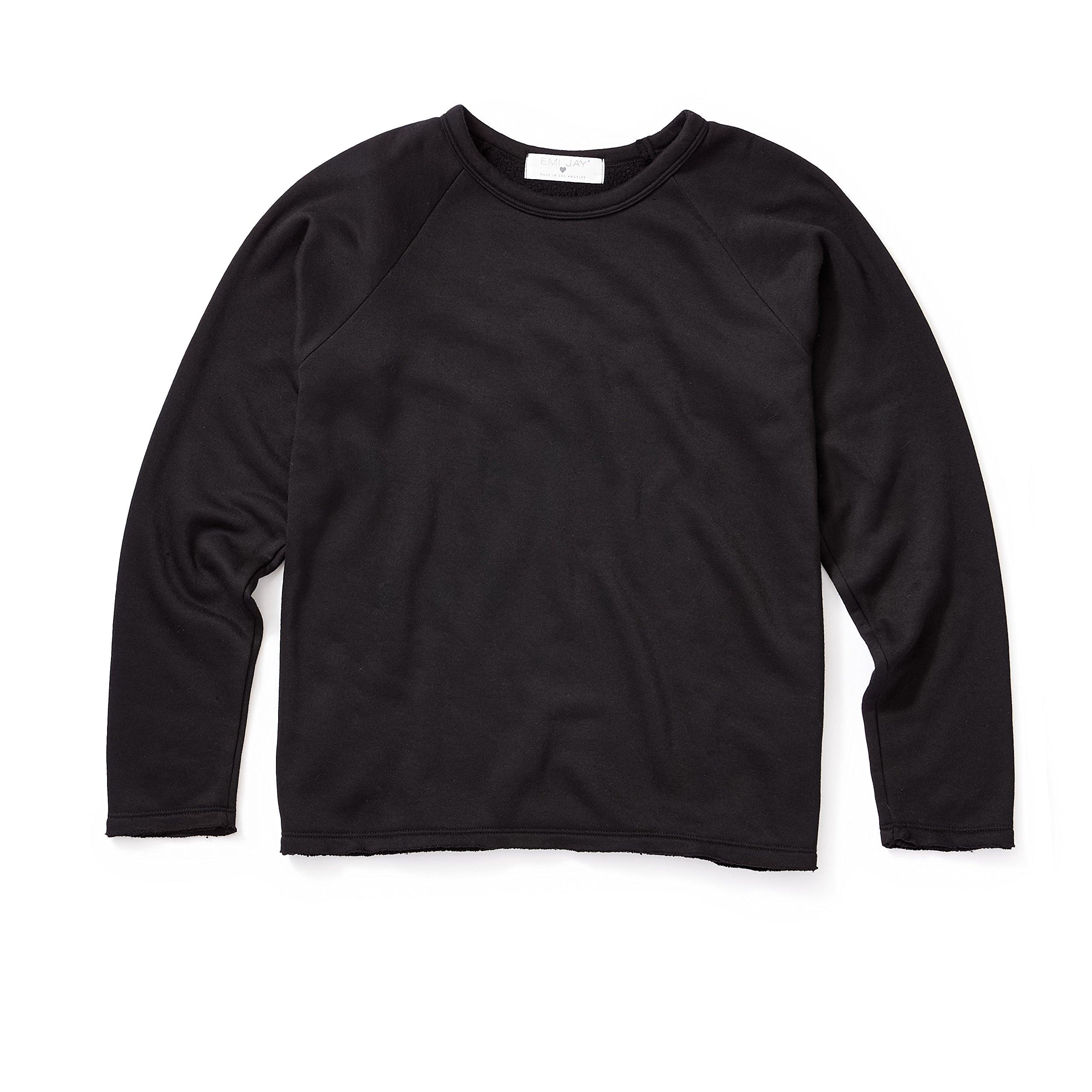 EmiJay Inc Womens Smoosh Sweatshirt Large/Xlarge Black by EmiJay Inc