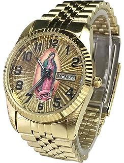Reloj De Hombre Swanson Japan Watch Mens Day-Date Con La Virgen de Guadalupe &